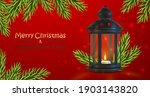 red banner with black latern ... | Shutterstock .eps vector #1903143820