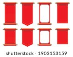set of red ancient scrolls... | Shutterstock .eps vector #1903153159