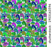 Seamless Pattern In Vibrant...