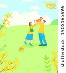 fresh spring landscape... | Shutterstock .eps vector #1903165696