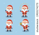 cute santa clause flat design | Shutterstock .eps vector #1903174273