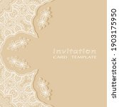 lace invitation card template... | Shutterstock .eps vector #1903175950
