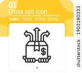 cross sell icon vector with...