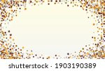 gold background with confetti... | Shutterstock .eps vector #1903190389