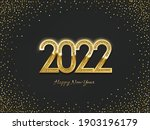 2022 golden new year sign on... | Shutterstock .eps vector #1903196179