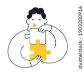 problem solving  cute cartoon... | Shutterstock .eps vector #1903200916