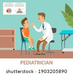 pediatrician looks at the... | Shutterstock .eps vector #1903205890