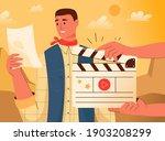 movie making concept. actor... | Shutterstock .eps vector #1903208299