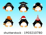 penguin cartoon character... | Shutterstock .eps vector #1903210780