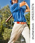 Portrait Of Baseball Player At...