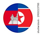 round icon with cambodia and... | Shutterstock .eps vector #1903215700