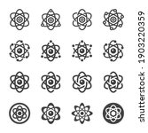 atom icon set vector and... | Shutterstock .eps vector #1903220359