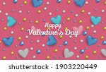 happy valentines day abstract... | Shutterstock .eps vector #1903220449