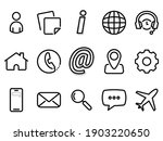 set of black vector icons ...