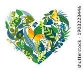 beautiful floral icon of heart... | Shutterstock .eps vector #1903223446