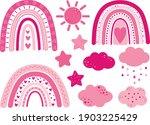 rainbow valentine's day hearts...   Shutterstock .eps vector #1903225429