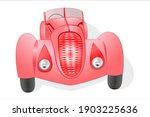 red vintege car on a write... | Shutterstock .eps vector #1903225636