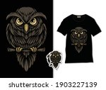 Owl Mascot Vector. Owl On The...