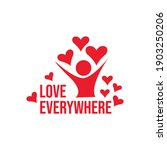 spread the love abstract human... | Shutterstock .eps vector #1903250206