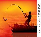 fisherman vector | Shutterstock .eps vector #190325540