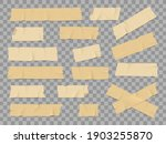 adhesive or duct tape crumpled... | Shutterstock .eps vector #1903255870