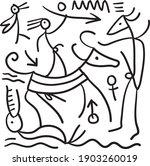 primitive artistic style... | Shutterstock .eps vector #1903260019