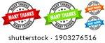 many thanks stamp. many thanks... | Shutterstock .eps vector #1903276516