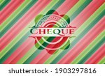 cheque christmas colors style... | Shutterstock .eps vector #1903297816