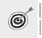 vector hand drawn icon target... | Shutterstock .eps vector #1903304053