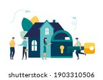 buying a house  house keys ... | Shutterstock .eps vector #1903310506