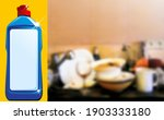 plastic bottle with detergent...   Shutterstock .eps vector #1903333180