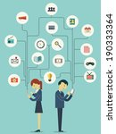 businesspeople  man and woman ... | Shutterstock .eps vector #190333364
