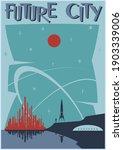 future city retro future space...   Shutterstock .eps vector #1903339006