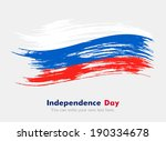 russian flag. independence day. | Shutterstock .eps vector #190334678