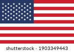 official american flag vector... | Shutterstock .eps vector #1903349443