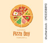 national pizza day vector.... | Shutterstock .eps vector #1903358893