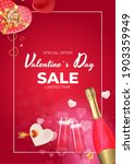 valentine's day sale holiday... | Shutterstock .eps vector #1903359949