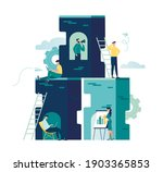 creative space  freelancer ... | Shutterstock .eps vector #1903365853
