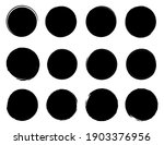 circle textured hand drawn... | Shutterstock .eps vector #1903376956