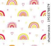 cute white seamless pattern...   Shutterstock .eps vector #1903378879