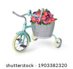 Decorative Bicycle With Flowers ...