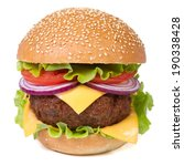fresh big hamburger with meat ... | Shutterstock . vector #190338428
