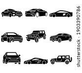 solid icons set transportation... | Shutterstock .eps vector #1903390786
