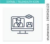 video telephony line icon.... | Shutterstock .eps vector #1903426123