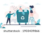 people recycle personal... | Shutterstock .eps vector #1903439866