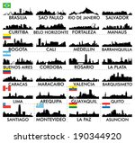 City skyline South America - stock vector