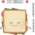 cute sandwich. illustration in... | Shutterstock .eps vector #1903449433