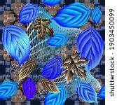 leafy textured 3d vector... | Shutterstock .eps vector #1903450099