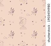 seamless pattern with birds ...   Shutterstock .eps vector #1903454980