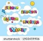 sixteen  seventeen  eighteen ... | Shutterstock .eps vector #1903459906